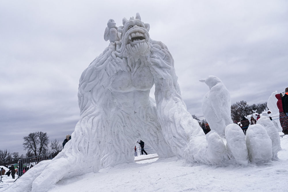 Yeti Snow Sculpture in Minnesota