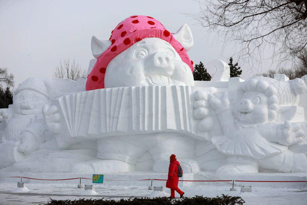 Snow Sculpture in China's Harbin