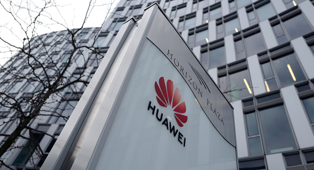 Logo of Huawei is seen in front of the local offices of Huawei in Warsaw, Poland January 11, 2019