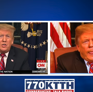Staffer from Washington State news station fired over doctored video of US President Donald Trump's Oval Office speech on January 8, 2019.