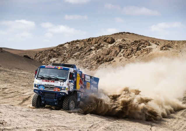 Photos of the KAMAZ Master team during the third stage of the Dakar 2019 Rally
