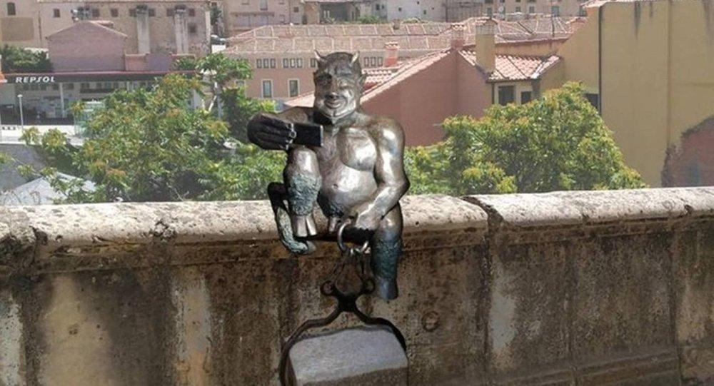 Satan sculpture