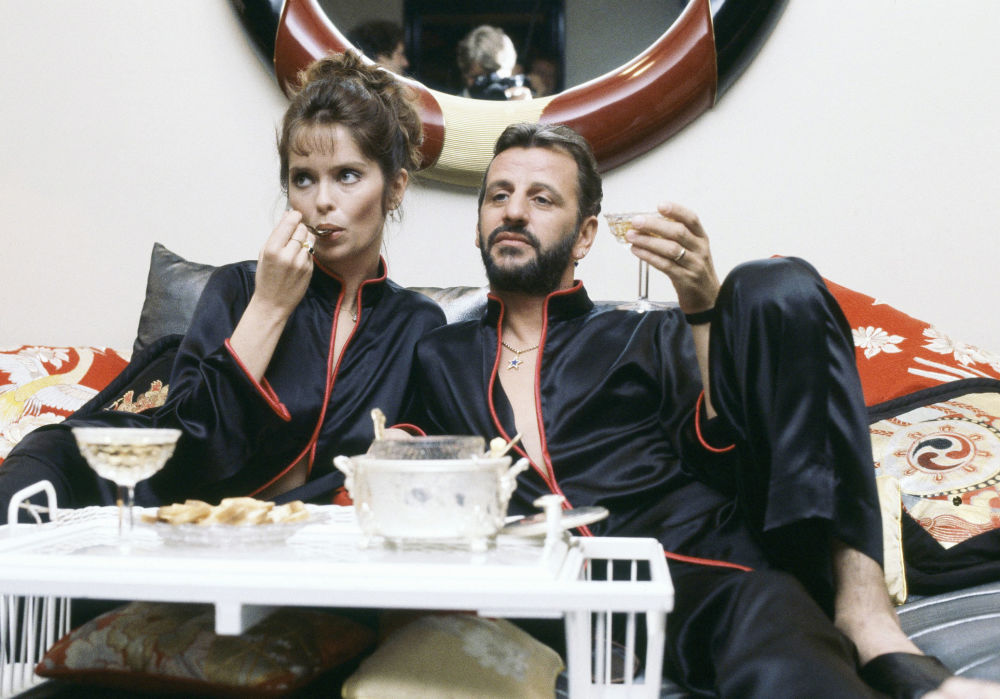 Former Beatle Ringo Starr with wife Barbara Bach, May 16, 1983.