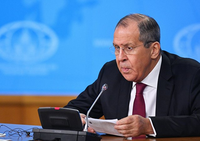 Russian Foreign Minister Sergei Lavrov is holding his annual big press conference.