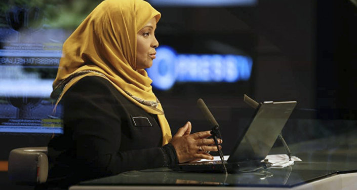This undated photo provided by Iranian state television's English-language service, Press TV, shows its American-born news anchor Marzieh Hashemi