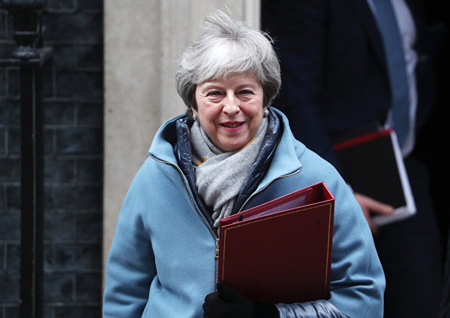 Britain's Prime Minister Theresa May leaves Downing Street in London, Britain, January 21, 2019.