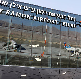 Planes are reflected in the facade of the Ramon International Airport after an inauguration ceremony for the new airport, just outside the southern Red Sea resort city of Eilat, Israel January 21, 2019.