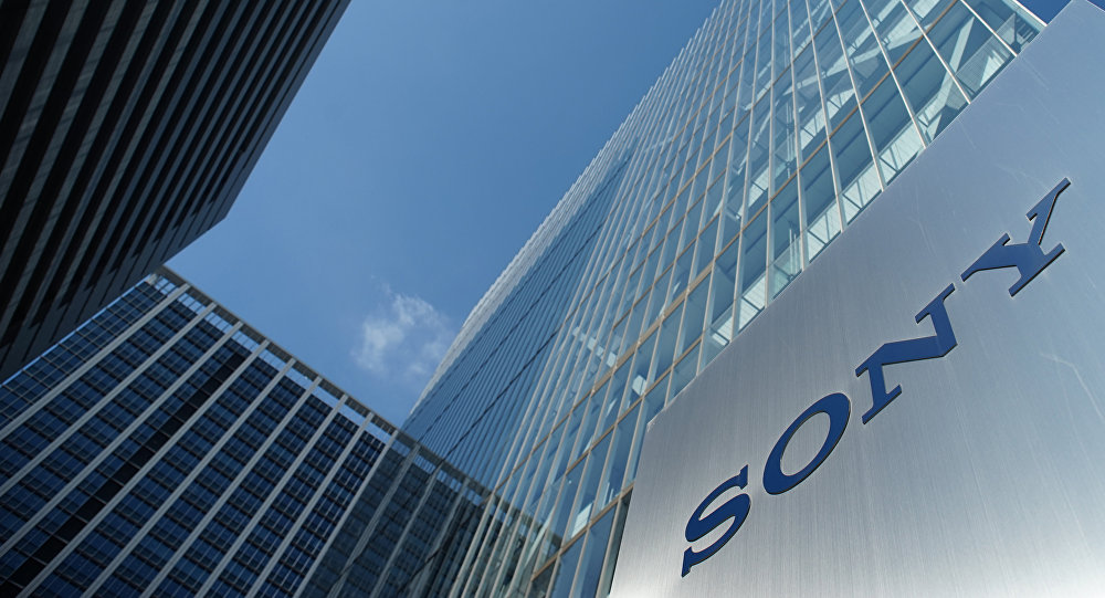 The logo of Japan's Sony Corp. is displayed in front of the company's headquarters in Tokyo on July 31, 2018