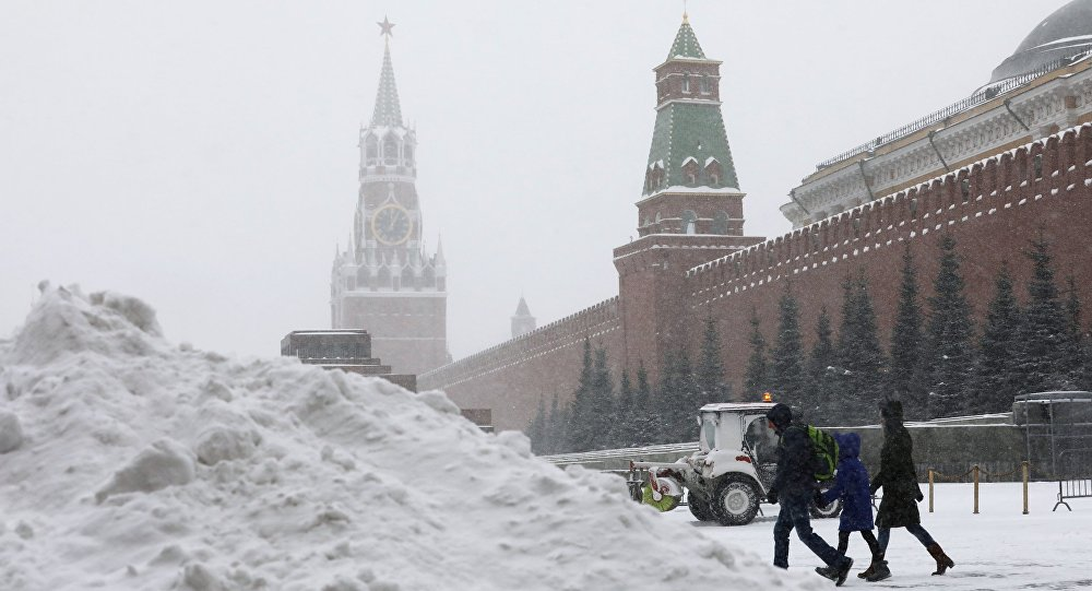 Moscow snowstorm, January 2019.