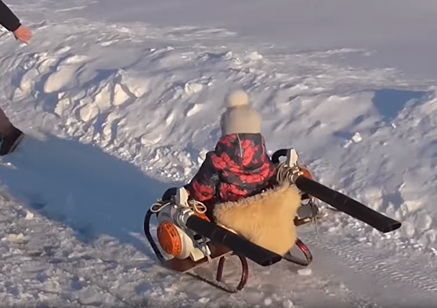 Russian Girl's Custom Sled Blows Away Competition