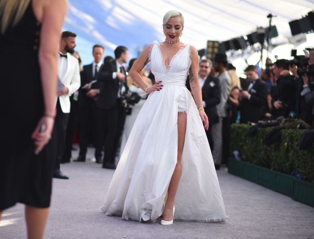 Lady Gaga walks the red carpet at the 25th Annual Screen Actors Guild Awards at the Shrine Auditorium in Los Angeles