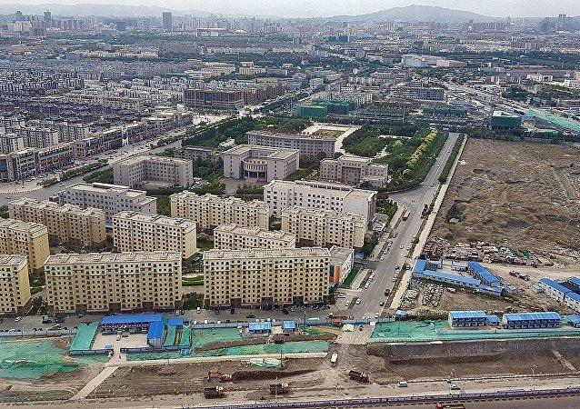Aerial view of Urumqi, Xinjiang Province, PR China