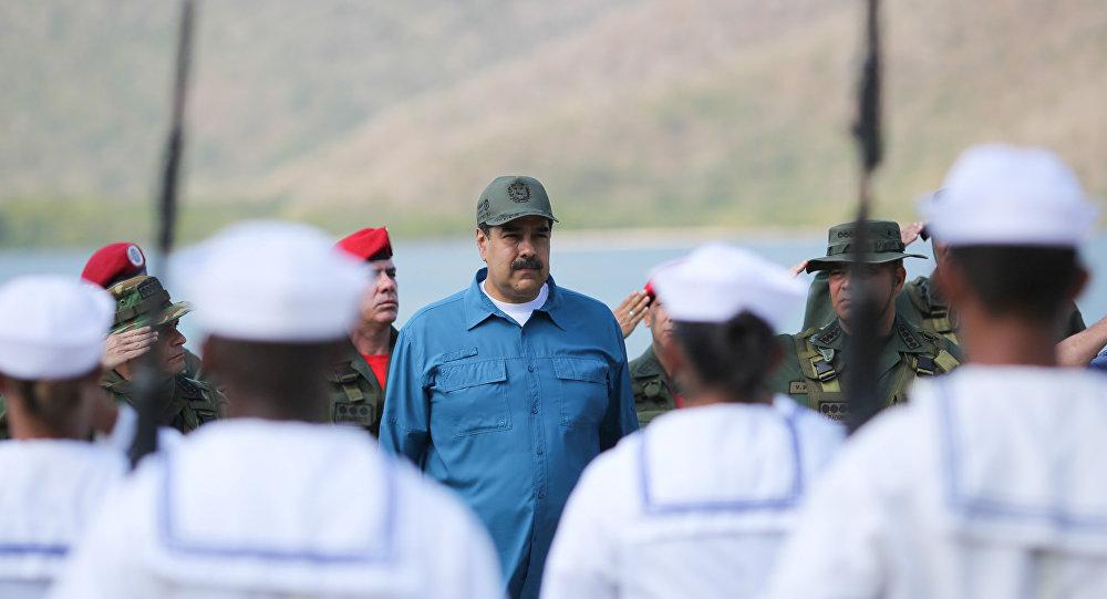 Venezuela's President Nicolas Maduro attends a military exercise in Turiamo, Venezuela February 3, 2019.