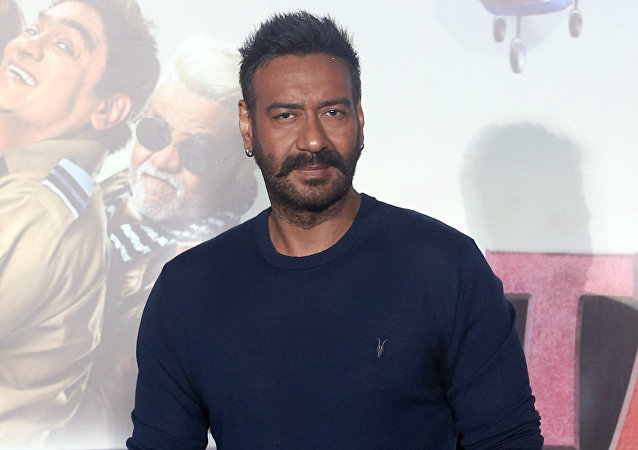 Bollywood actor Ajay Devgan poses at the trailer launch of his upcoming movie 'Total Dhamaal' in Mumbai, India, Monday, Jan 21, 2019. The movie is scheduled to be released on Feb. 22, 2019