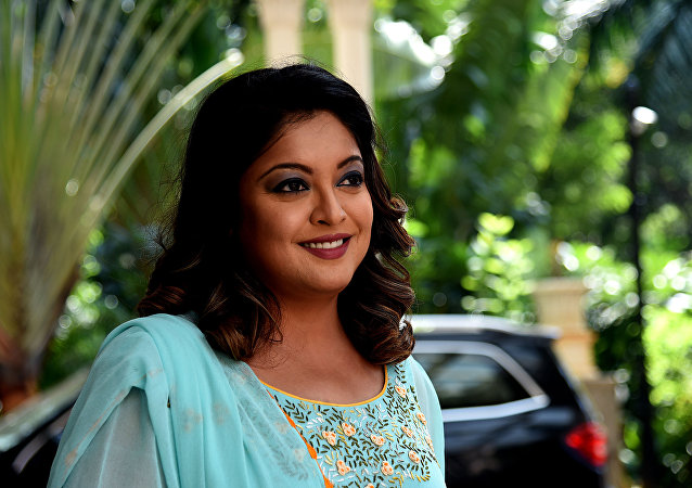 Indian Bollywood actress Tanushree Dutta arrives to attend the interactive session event for Indian news television channel Aaj Tak Mumbai Manthan function, in Mumbai on October 23, 2018