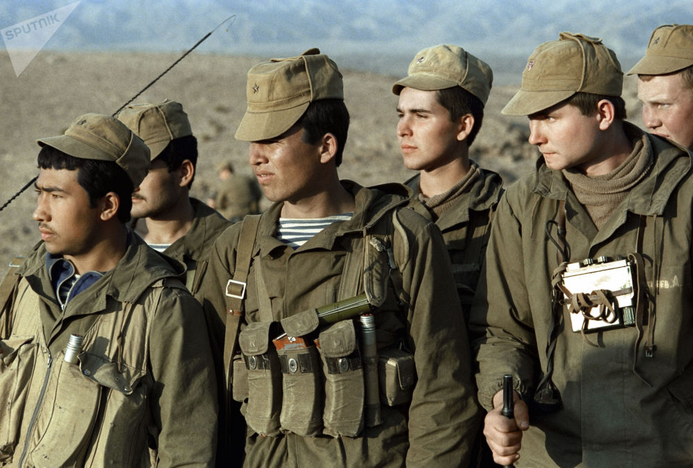 Soviet special forces after a mission in Afghanistan. 18 February 1988