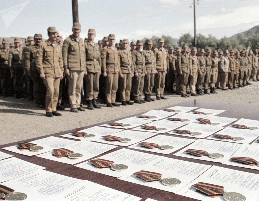 An awards and decoration ceremony in Afghanistan