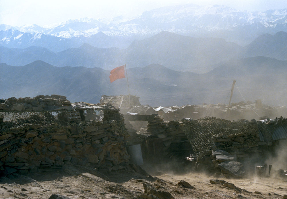 Soviet military outpost in the mountains of Afghanistan near the capital city of Kabul