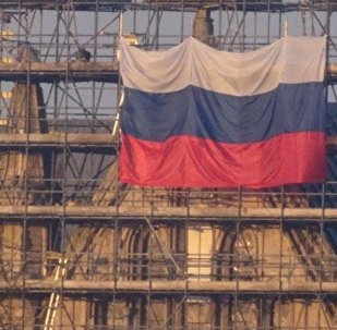 Russian Flag Unfurled on Salisbury Cathedral in UK