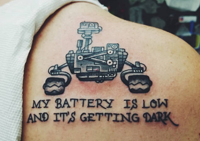 Mars rover tattoo