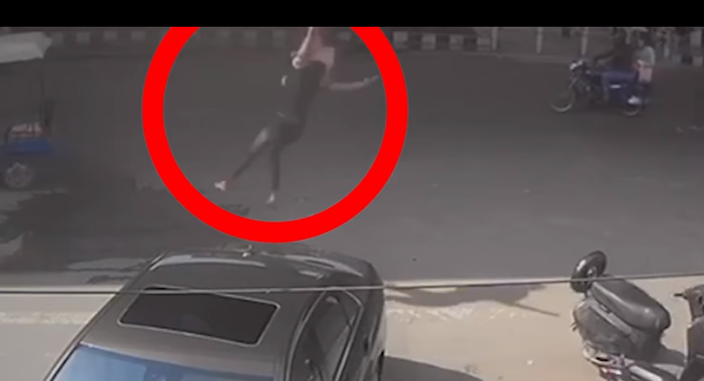 Woman Thrown Off a Flyover