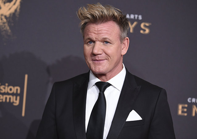 In this Sept. 9, 2017, file photo, Gordon Ramsay arrives at night one of the Creative Arts Emmy Awards at the Microsoft Theater in Los Angeles