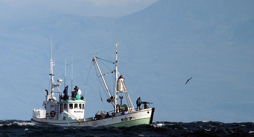 The whaling boat 'Njordur', prepares to fire a harpoon at a minke whale, Friday, Aug. 22, 2003 in the Atlantic Ocean off the west coast of Iceland. The Icelandic government has given permission for 38 whales to be caught for scientific reasons within the next two months.