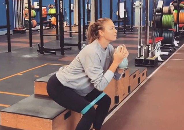 Maria Sharapova Shows Off Her Fitness Training Routine