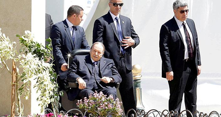 Algerian President Abdelaziz Bouteflika is seen in Algiers