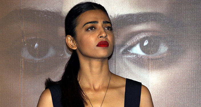 Indian Bollywood actress Radhika Apte poses during the trailer launch of the psychological thriller film 'Phobia' directed by Pawan Kripalani in Mumbai late April 25, 2016