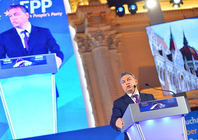 Hungarian Prime Minister Viktor Orban speaking at European People's Party's meeting (File photo).