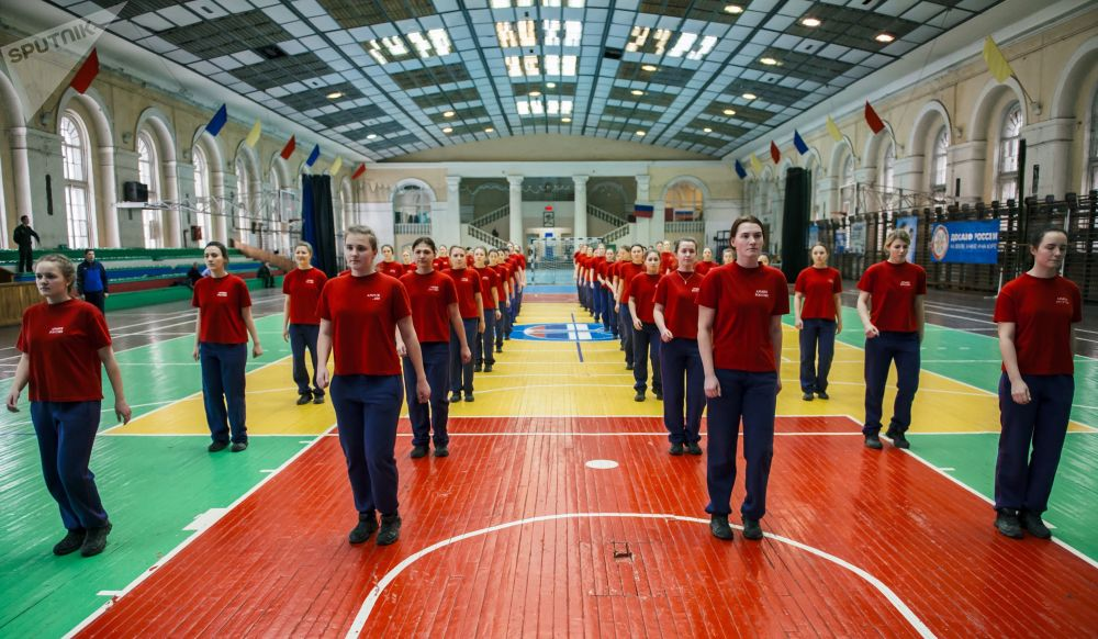 Female Cadets at Military-Space Academy in Saint Petersburg