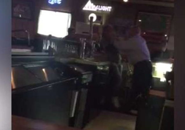 Bar owner Dale Dean Suter of the Walnut Saloon choking female employee over sign disagreement