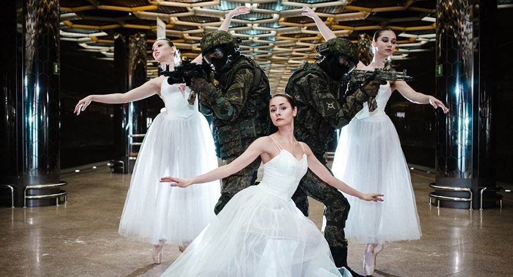 Troops and Ballerinas photoshoot in Ekaterinburg.