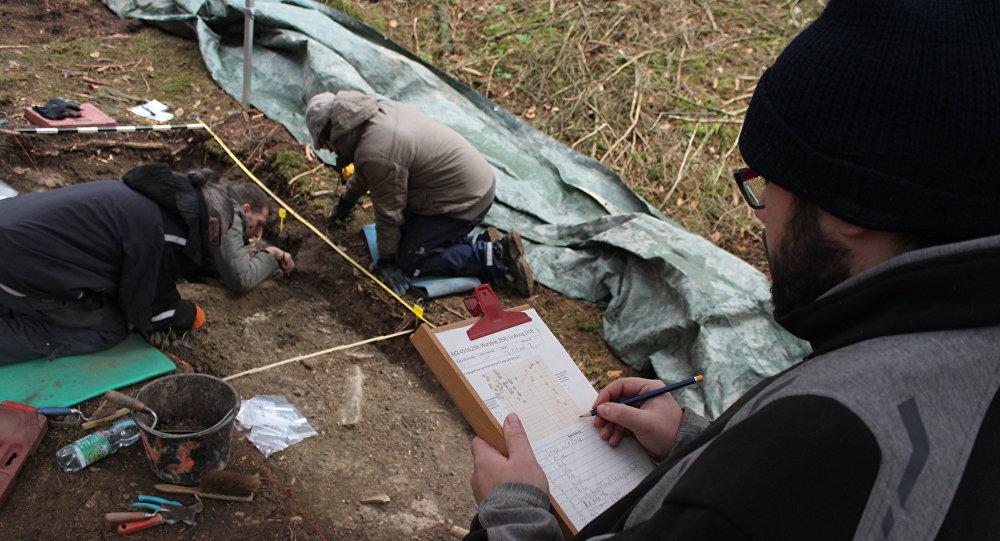 Excavation in the Langenbachtal near Warstein
