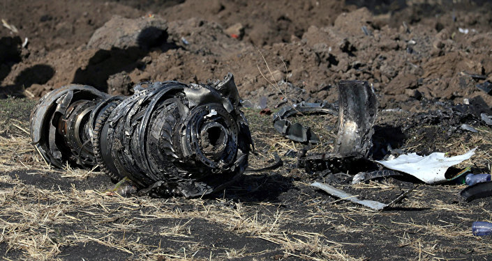 Engine parts are seen at the scene of the Ethiopian Airlines Flight ET 302 plane crash, near the town of Bishoftu, southeast of Addis Ababa, Ethiopia March 11, 2019