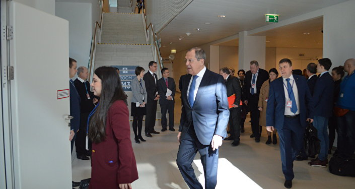 Russian FM Sergey Lavrov at the ministerial meeting of the 62nd session of the UN Commission on Narcotic Drugs in Vienna