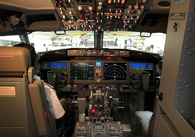 The cockpit of Jet Airways Boeing 737 MAX 8 aircarft
