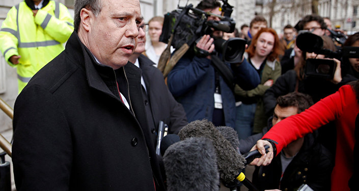FILE PHOTO: Democratic Unionist Party (DUP) deputy leader Nigel Dodds, speaks to the media outside the Cabinet Office, in London