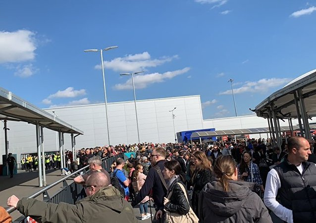 Evacuation in Luton airport, London