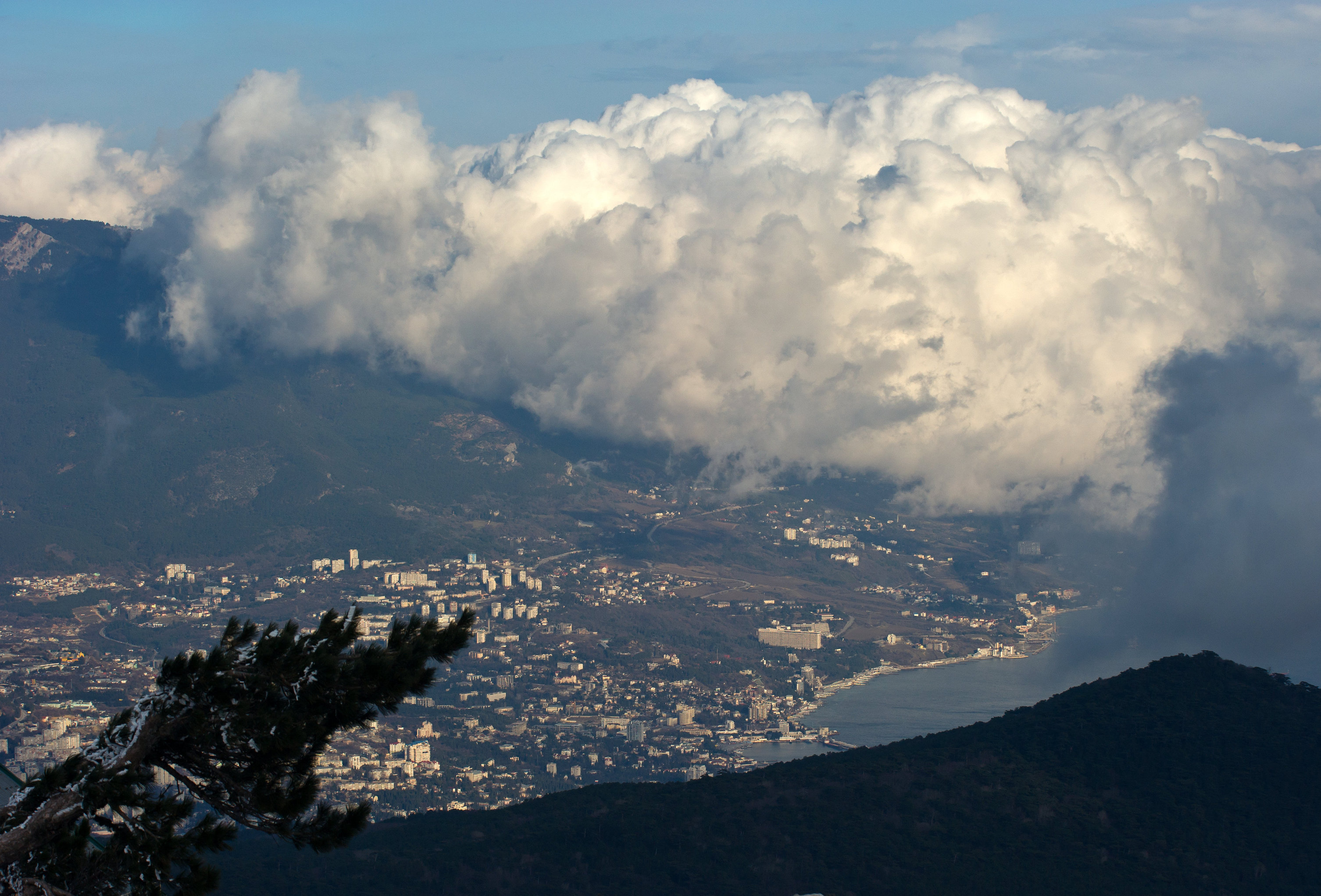 A view on Yalta from Mount Ai-Petri in Crimea.