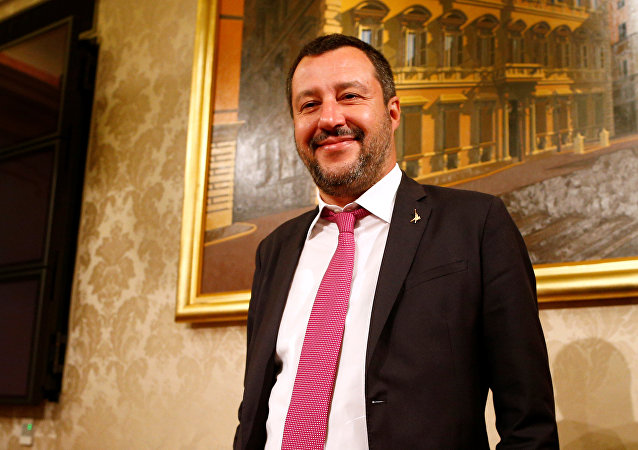 Italian Deputy Prime Minister and League leader Matteo Salvini arrives for a news conference at the Senate upper house parliament building in Rome, Italy March 8, 2019