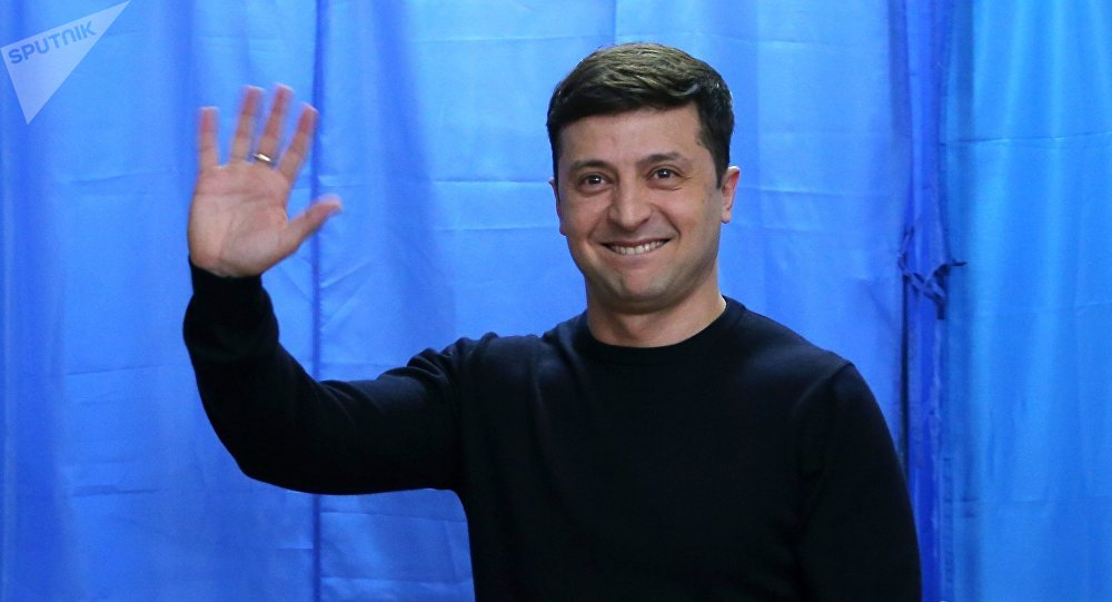 Image result for Ukraine presidential election: Comedian Volodymyr Zelenskiy wins first round