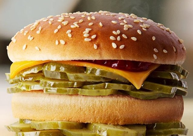 McDonald's presents Pickles-only Burger on April's Fools Day.