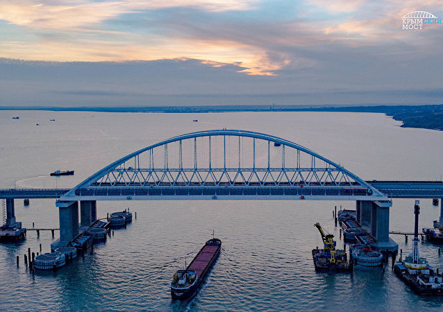 The fairway section of Crimean Bridge was secured against collision with vessels