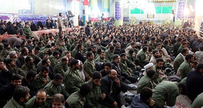 Members of Iran's elite Revolutionary Guard Corps