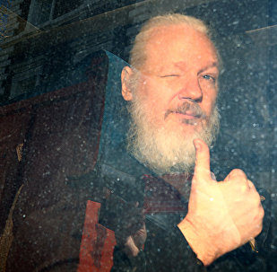 WikiLeaks founder Julian Assange arrives at the Westminster Magistrates Court, after he was arrested in London, Britain April 11, 2019.