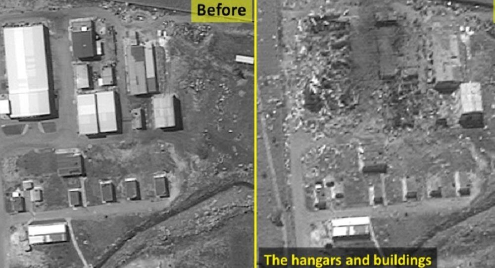 Before and after photos of a possible Iranian missile factory in Syria