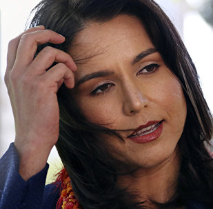 This Jan. 24, 2018 file photo shows U.S. Rep. Tulsi Gabbard, D-Hawaii, at a news conference in Honolulu