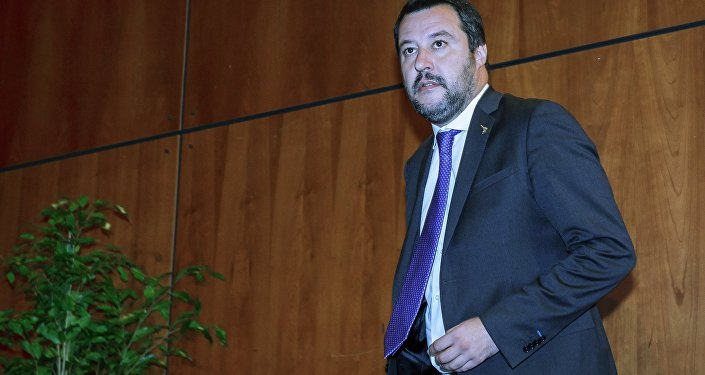 Italy's Deputy Prime Minister and leader of the League Party, Matteo Salvini